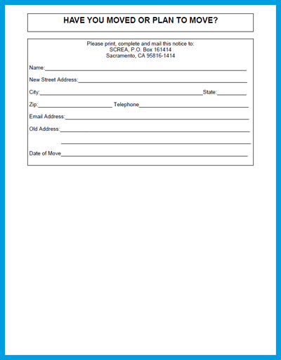 employee change of address form template